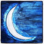 Waxing Crescent Moon - Watercolors #5