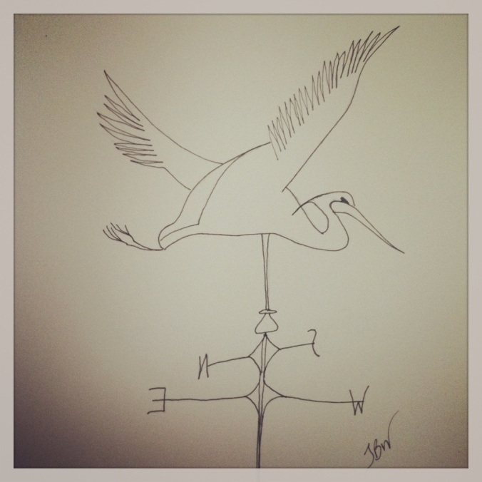 Weathervane – Sketched & Inked #32