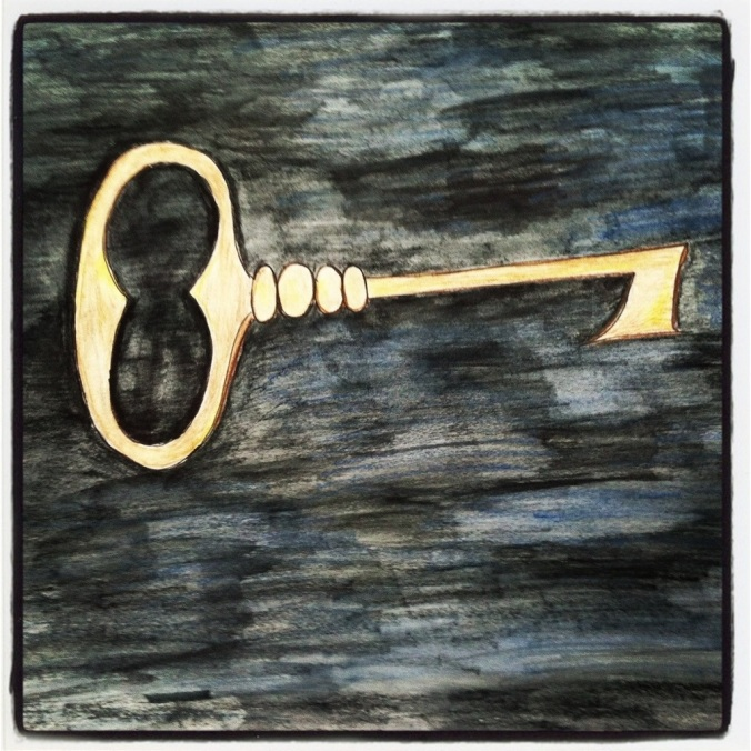 A Golden Key – Watercolor and Pen #37