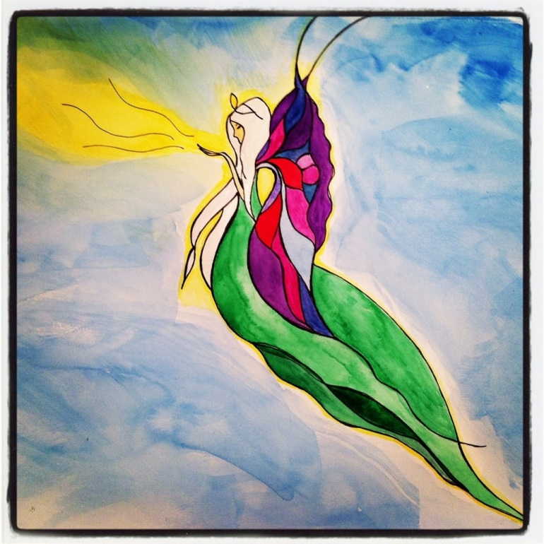 Fairy – Watercolor with Pen #41