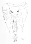 Elephant – Pen and Ink #73