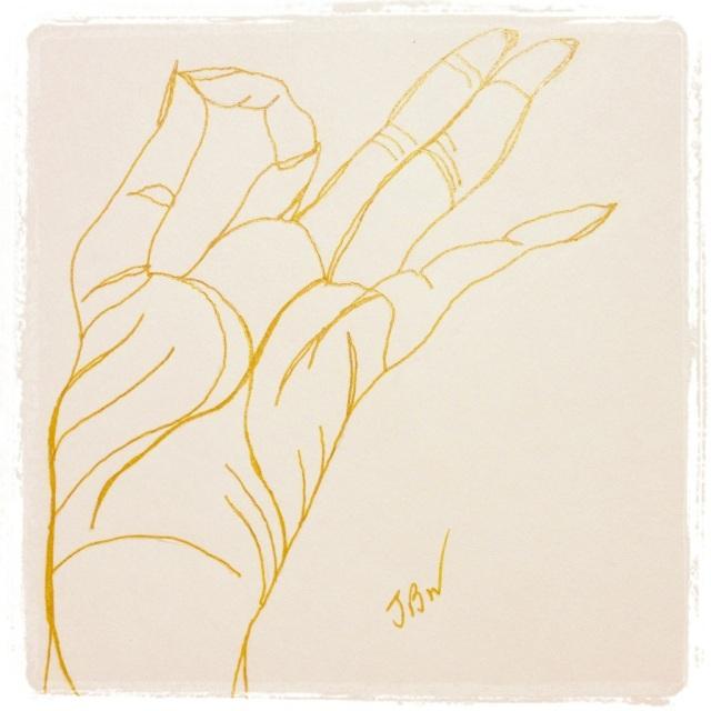 Chin Mudra (self) – Gold Ink #25 (Series 3)