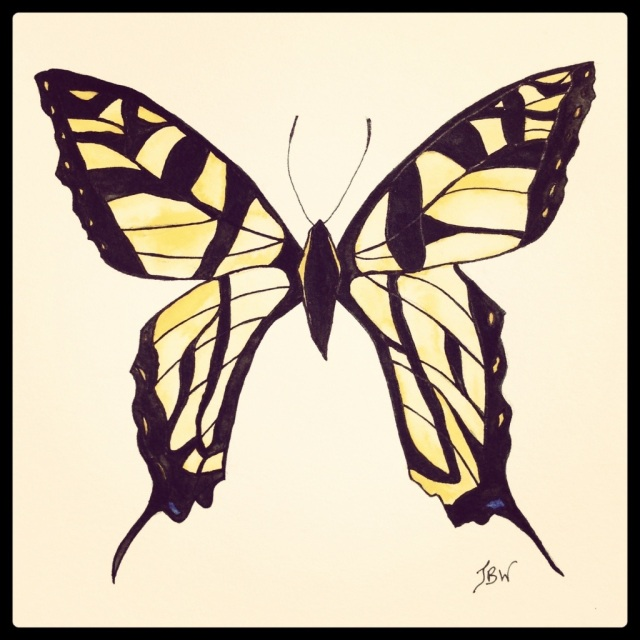 Swallowtail Butterfly – Watercolor and Ink (She's finished!!!) #35 (Series 3)