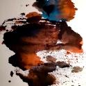 a darkened blue heart #73